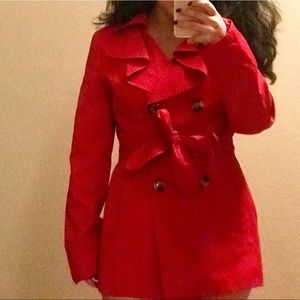 Red London Fog Trench Coat size small